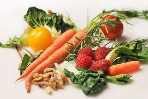 nuts fruits vegetables